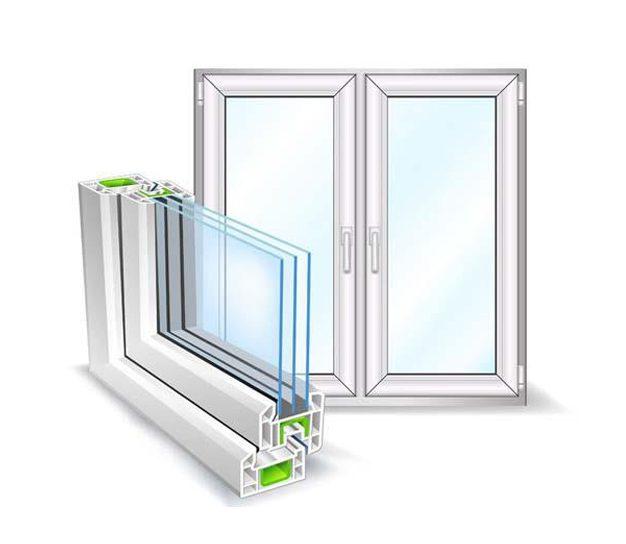 تفاوت پنجره دوجداره یو پی وی سی با پنجره سه جداره یو پی وی سی
