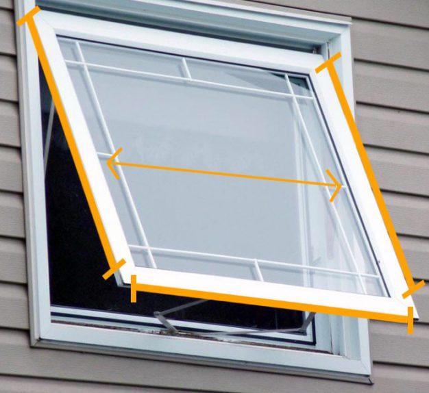 اندازه گیری توری پنجره