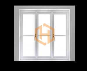 پنجره دوجداره سه لنگه با دو لنگه بازشو