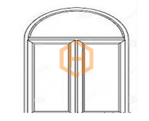پنجره دوجداره قوسی